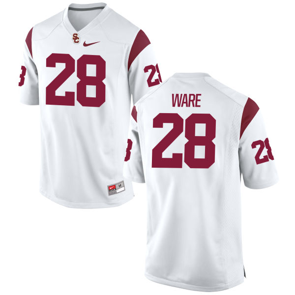 Men's Nike Aca'Cedric Ware USC Trojans Game White Football Jersey