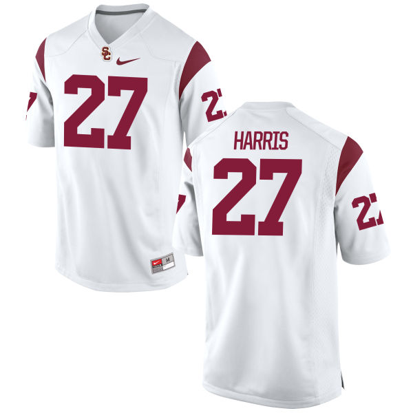 Men's Nike Ajene Harris USC Trojans Game White Football Jersey