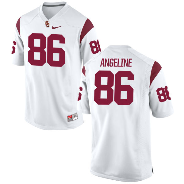 Men's Nike Cary Angeline USC Trojans Replica White Football Jersey