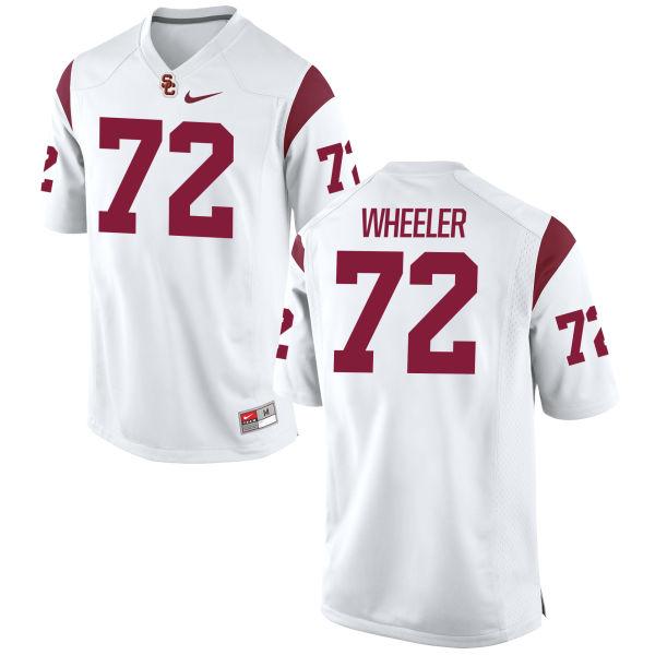 Men's Nike Chad Wheeler USC Trojans Game White Football Jersey
