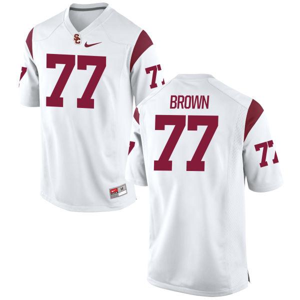 Youth Nike Chris Brown USC Trojans Replica White Football Jersey