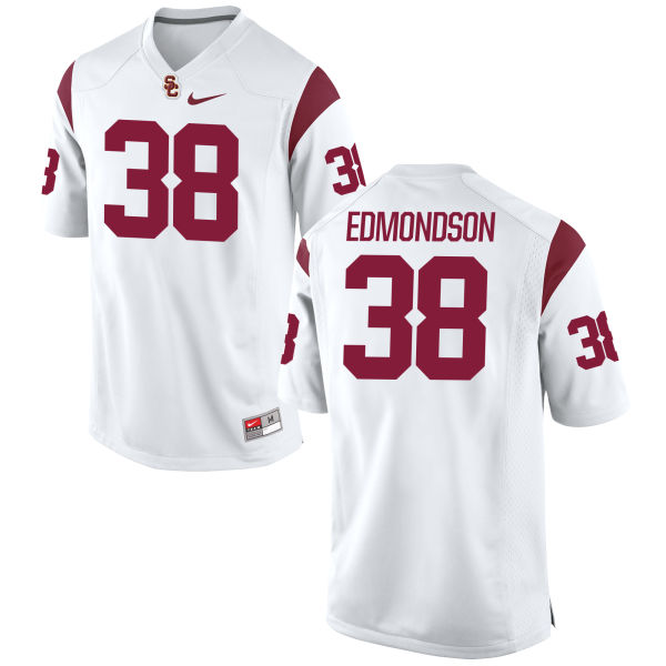 Men's Nike Chris Edmondson USC Trojans Replica White Football Jersey