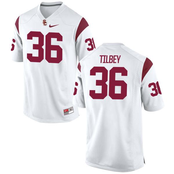 Women's Nike Chris Tilbey USC Trojans Replica White Football Jersey