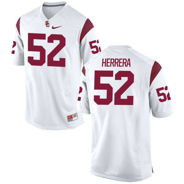 Men's Nike Christian Herrera USC Trojans Game White Football Jersey