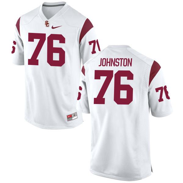 Men's Nike Clayton Johnston USC Trojans Authentic White Football Jersey