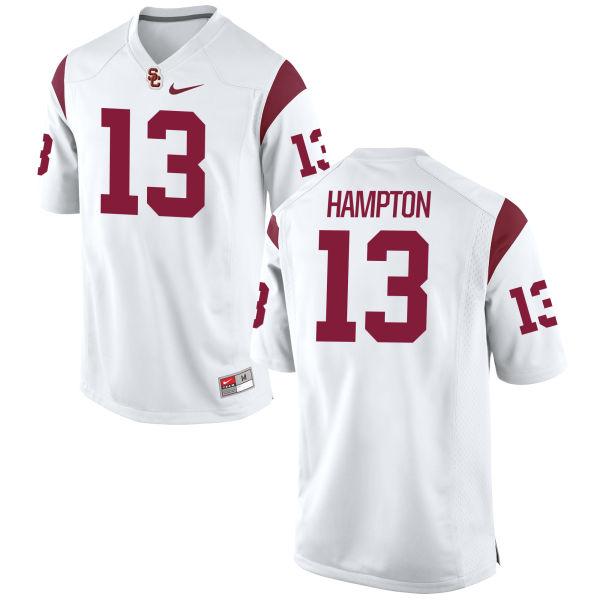Women's Nike De'Quan Hampton USC Trojans Authentic White Football Jersey