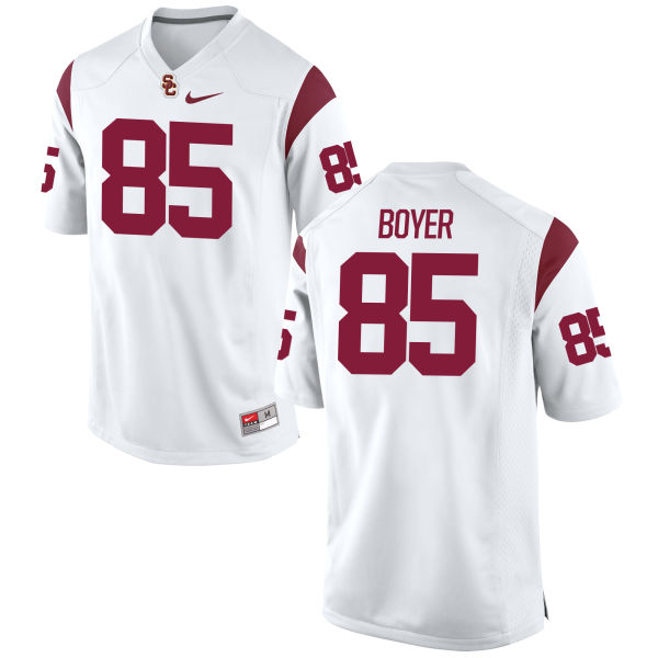 Men's Nike Jackson Boyer USC Trojans Game White Football Jersey