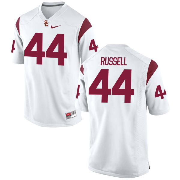 Men's Nike Jake Russell USC Trojans Game White Football Jersey