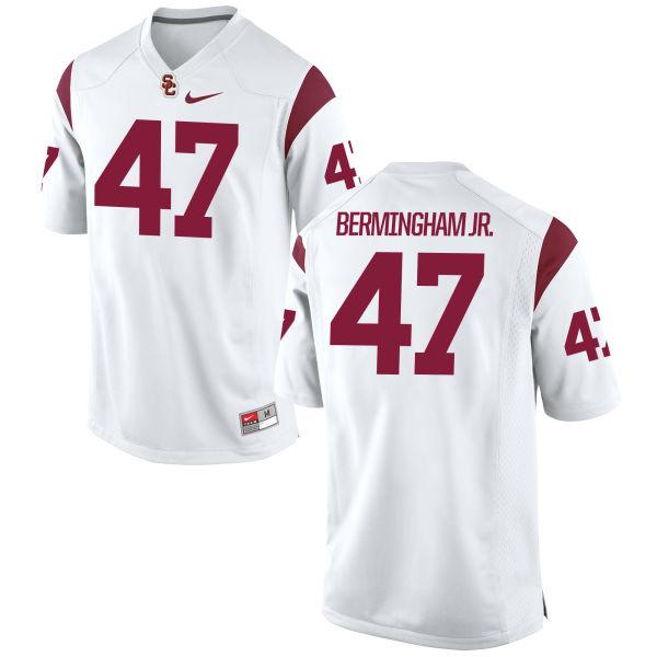 Men's Nike James Bermingham Jr. USC Trojans Replica White Football Jersey