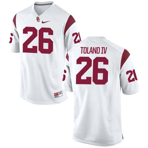 Men's Nike James Toland IV USC Trojans Game White Football Jersey