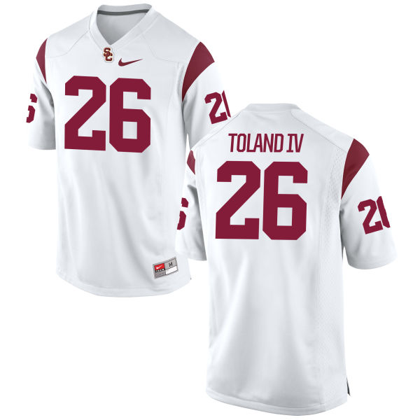 Youth Nike James Toland IV USC Trojans Game White Football Jersey
