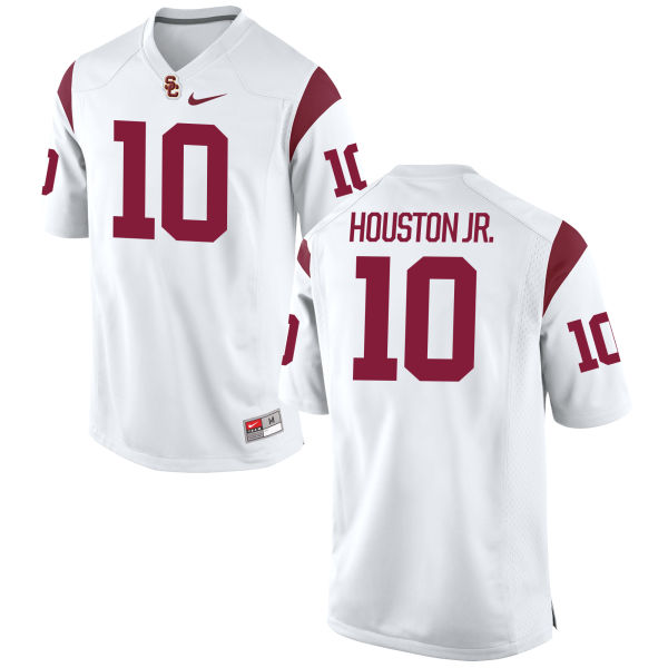 Men's Nike John Houston Jr. USC Trojans Game White Football Jersey