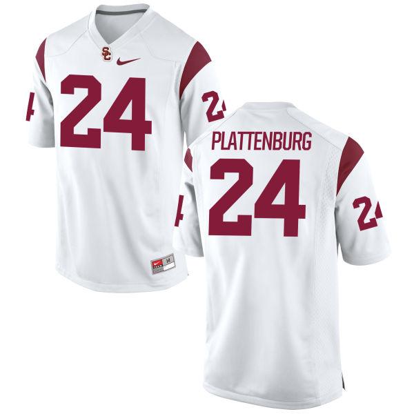 Men's Nike John Plattenburg USC Trojans Game White Football Jersey