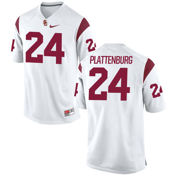 Women's Nike John Plattenburg USC Trojans Game White Football Jersey