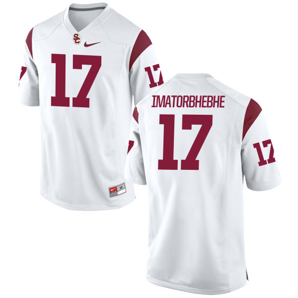 Men's Nike Josh Imatorbhebhe USC Trojans Game White Football Jersey