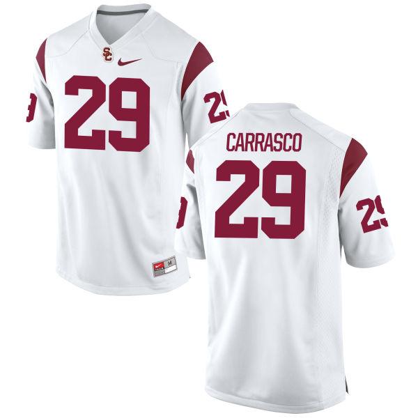 Men's Nike Kevin Carrasco USC Trojans Game White Football Jersey