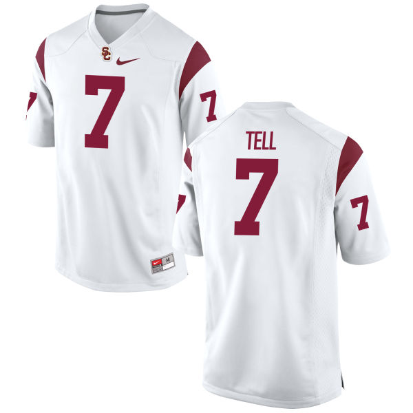 Men's Nike Marvell Tell III USC Trojans Game White Football Jersey