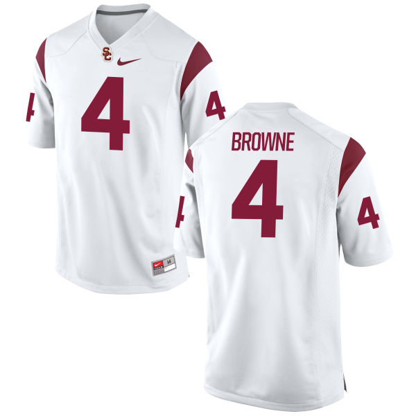 Men's Nike Max Browne USC Trojans Game White Football Jersey