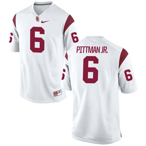 Men's Michael Pittman Jr. USC Trojans Game White Football Jersey