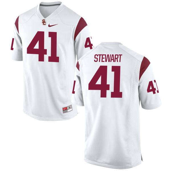 Men's Nike Milo Stewart USC Trojans Replica White Football Jersey
