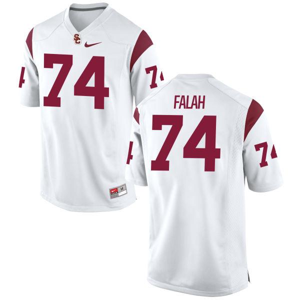 Men's Nike Nico Falah USC Trojans Game White Football Jersey