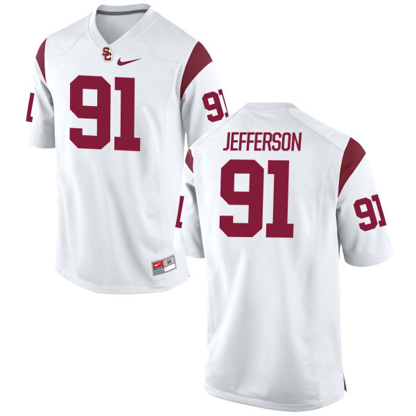 Men's Nike Noah Jefferson USC Trojans Authentic White Football Jersey