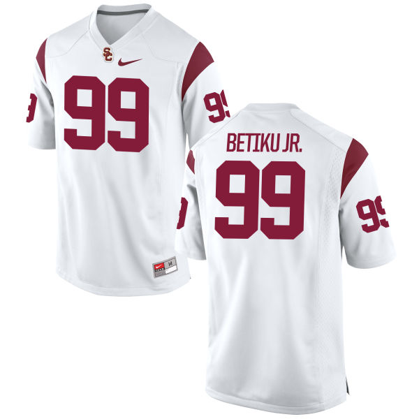 Men's Nike Oluwole Betiku Jr. USC Trojans Replica White Football Jersey