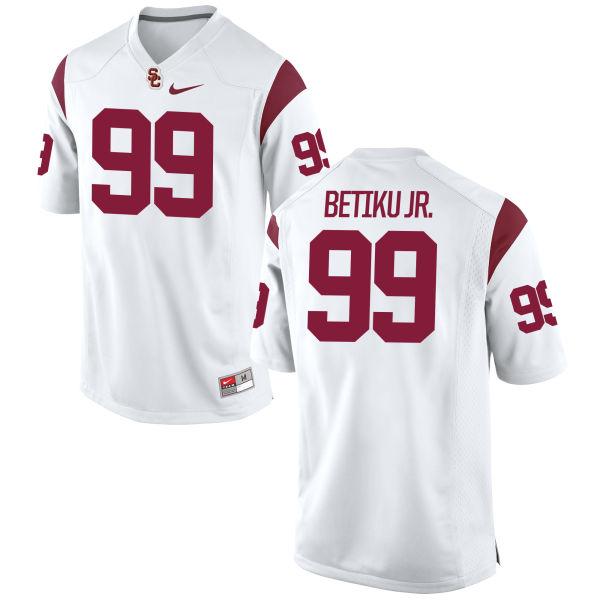 Women's Nike Oluwole Betiku Jr. USC Trojans Replica White Football Jersey