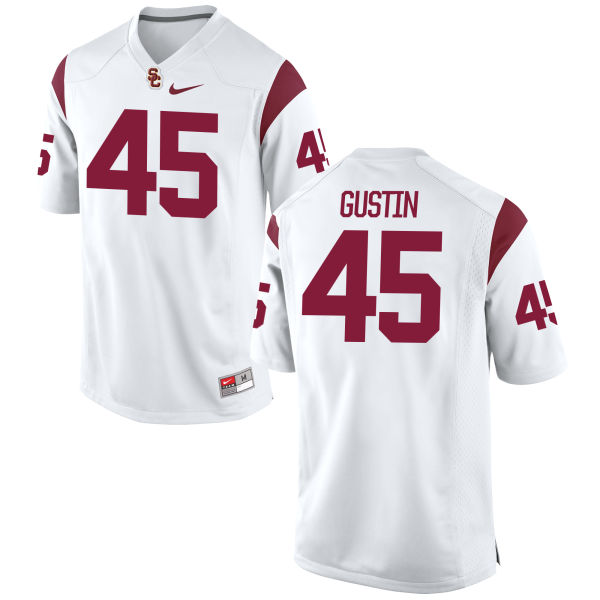 Men's Nike Porter Gustin USC Trojans Authentic White Football Jersey