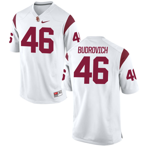 Men's Nike Reid Budrovich USC Trojans Game White Football Jersey