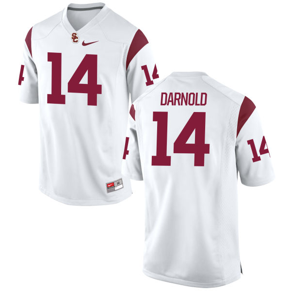 Men's Nike Sam Darnold USC Trojans Game White Football Jersey
