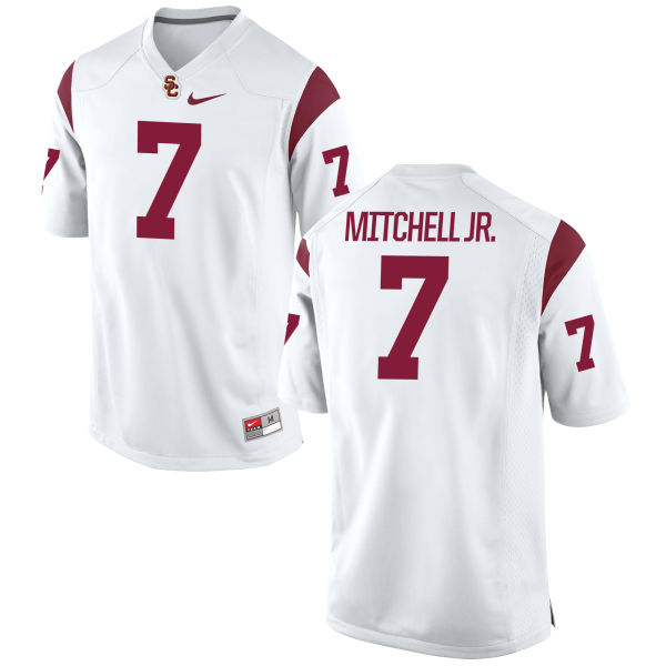 Men's Nike Steven Mitchell Jr. USC Trojans Game White Football Jersey