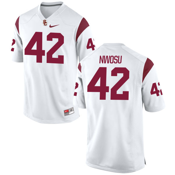 Men's Nike Uchenna Nwosu USC Trojans Replica White Football Jersey