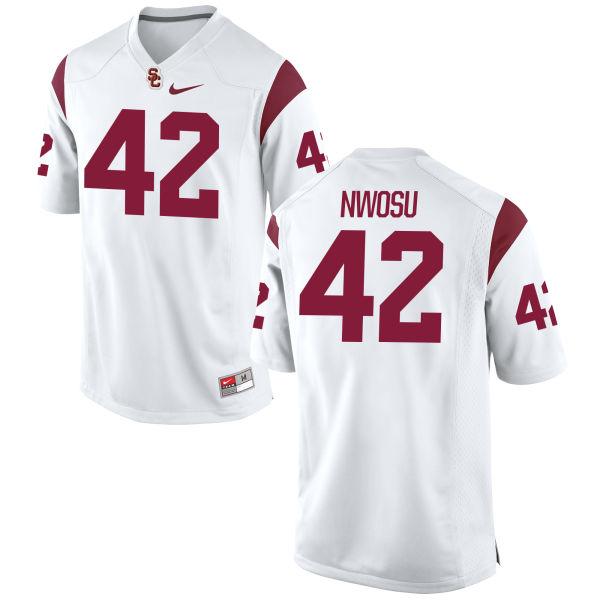 Women's Nike Uchenna Nwosu USC Trojans Replica White Football Jersey