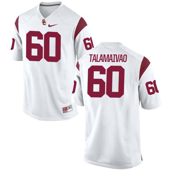 Men's Nike Viane Talamaivao USC Trojans Authentic White Football Jersey