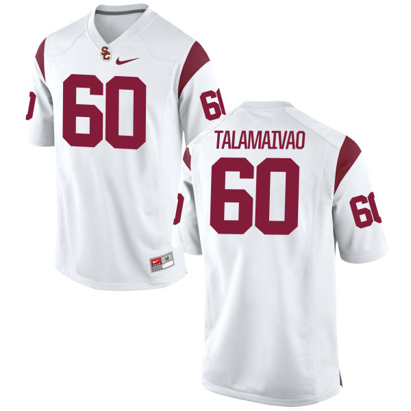 Women's Nike Viane Talamaivao USC Trojans Authentic White Football Jersey
