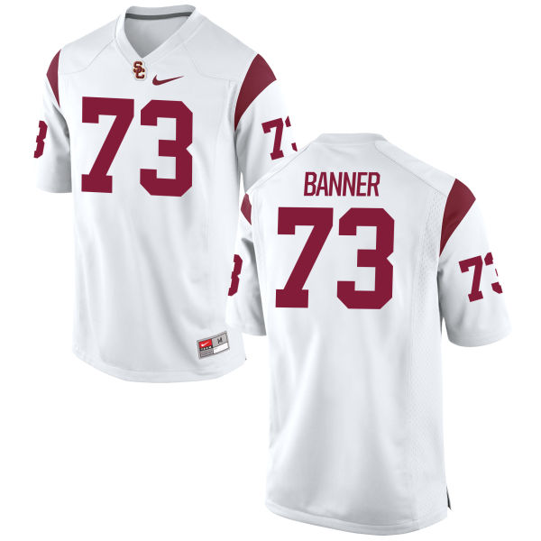 Men's Nike Zach Banner USC Trojans Game White Football Jersey